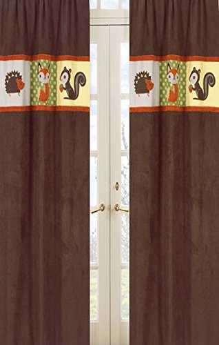 Forest Friends Window Treatment Panels - Set of 2 (Interior Designer Glass Doors compare prices)