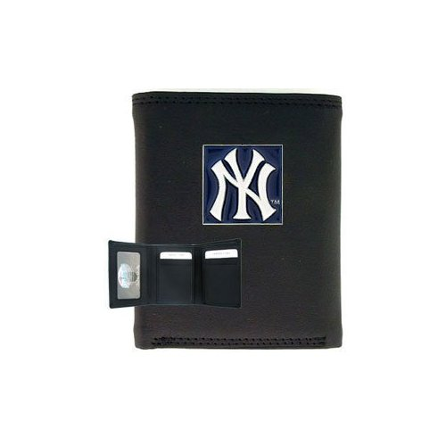 MLB Tri-fold Leather Wallet - New York Yankees at Amazon.com