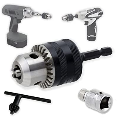 "Neiko Heavy-Duty 3/8"" Conversion Chuck for Impact Drivers - Quick Change Shank - 1/2"" Adapter for Impact Wrench"