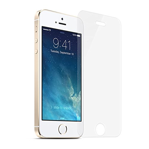 iPhone 5s / 5 / SE / 5c Screen Protector, NEWC® Premium Tempered Glass Screen Protector 9H Hardness and Easy Bubble-Free Installation for Apple Tempered Glass iPhone 5s / 5 / SE / 5C