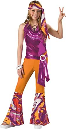 Girl's 70's Costume : Child Girl's Disco Halloween Costume