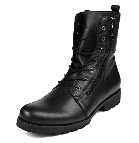 British Leather Men 's nel tubo capo rotondo Martin Boots esterna , black , 80W