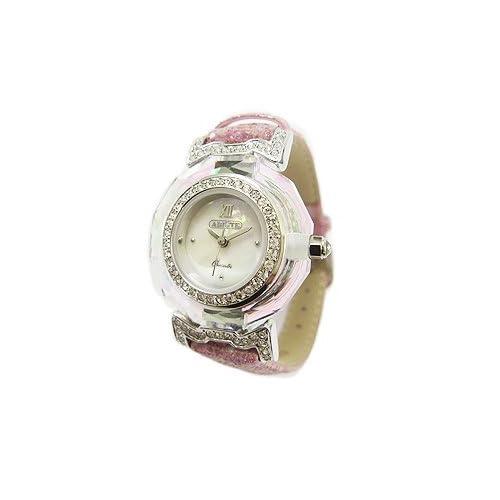 [アビステ]ABISTE ラメベルトクリスタル時計/ピンク 9000080S/P