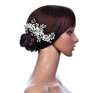 Remedios Crystal Jewelry Comb Bridal Headpiece Hair Clip Headband