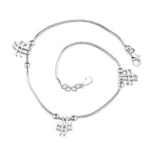 Revoni Glamour charmant - Bracelet serpent avec Charms noeud et croix - Inspiration pour femme - Argent fin 925/1000