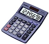 Casio MS-80TV Desktop Calculator Euro Battery Solar-power 8 Digit 3 Ke