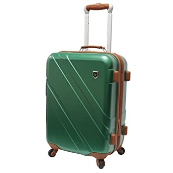 Travelers Choice Luggage Beverly Hills Country Club Classic 21 Inch Spinner Suitcase, Green, Large