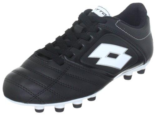 Lotto Sport STADIO POTENZA 500 FG JR N8471, Scarpe da calcio ragazzo, Nero (Schwarz (BLACK/WHITE)), 30