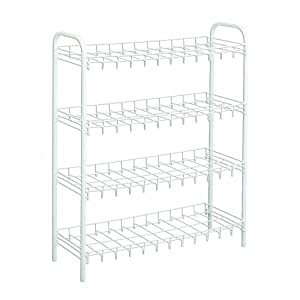 Wire World 12-Pair Shoe Rack, White