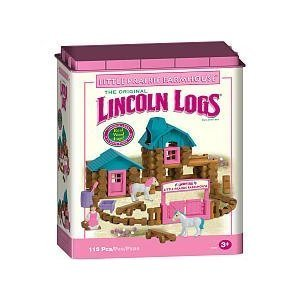 Lincoln Logs - Little Prairie Farmhouse - Pink