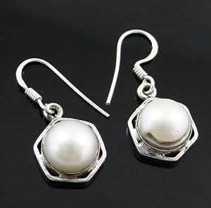 925 Sterling Silver Pearl Edelstein baumeln Partei-Abnutzungs- Ohrring-Satz Indien Modeschmuck