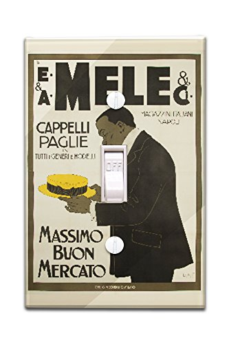 mele-and-ci-cappelli-paglie-vintage-poster-artist-laskoff-italy-c-1902-light-switchplate-cover