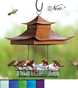 Parasol BW4SHV Bouquet Basketweave Shelter Hummingbird Feeder Violet