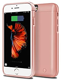 iPhone 6S Plus Battery Case, Cheeringary 8000mAh External Battery Case iPhone 6 Plus / 6S Plus Battery Portable Charger Charging Case for iPhone 6S Plus / 6 Plus 5.5\'\' - Power Bank Case (Rose Gold)
