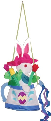 In the Breeze Watering Can Bunny Swingerz Outdoor Hanging Decor
