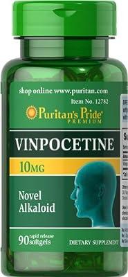 Puritan's Pride Vinpocetine 10 mg-90 Softgels