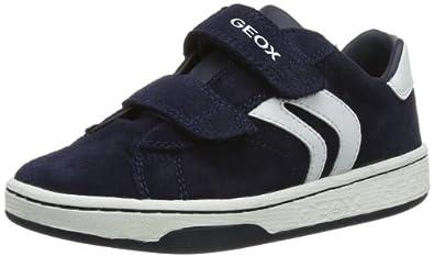 Geox Boys Jr Mania Boy A Low-Top J42G3A22C4211 Navy/White 1 UK, 33 EU