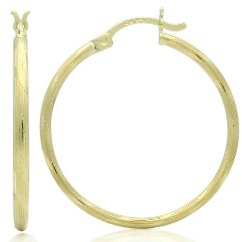 Little Treasures 14 ct Gold Hoop Earrings 2mm X 0.9