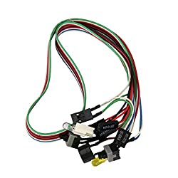 Generic PC Computer Switching Power Supply Line Reset Cable 20 inches LED Lights