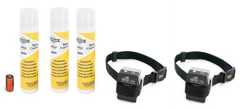 Two Innotek Anti Dog Bark Spray Collars With Three Citronella Refill Tins