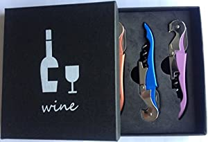 Best Wine Opener - Waiters Choice - Set Of 3 Double Hinged Corkscrews In 3 Different... by IcePacker