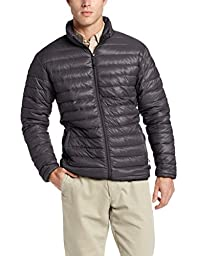 Hawke & Co Men\'s Packable Down Jacket, Charcoal, Large