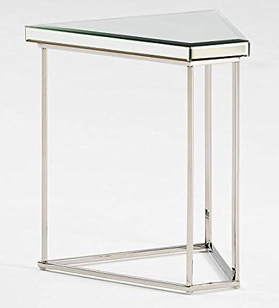 Table d'appoint 39acier/miroir–Produit exclusif