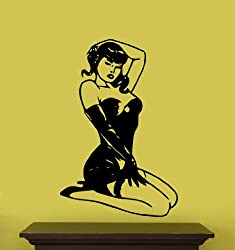 """Vinyl Wall Art Decal Sticker Sexy Pinup Girl Large 31""""x21"""""""