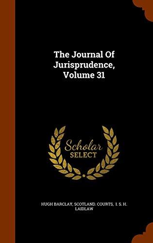 The Journal Of Jurisprudence, Volume 31