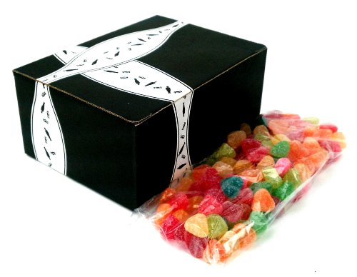 Gimbal'S Lovers Chewy Candy 2-Flavor Variety: One 1 Lb Bag Each Of Honey Lovers Heart Shaped Jelly Beans And Sour Lovers Chewy Candy In A Gift Box