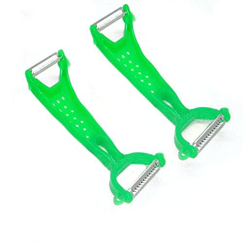 Lowpricenice(TM) 1PC Kitchen Convenient Practical Tools Vegetable Parer HelperFruit Peeler Gadgets (Green)