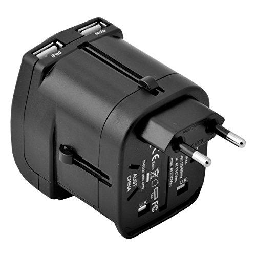 Isunnao Inao 004 Universal International World Travel Power Adapter With Dual 2 5a Usb Plug Ac