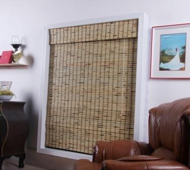Tropical Rustic Bamboo Roman Shade - Free Shipping, 27x54