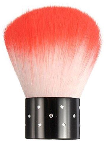 FOONEE Mini Strasssteine Kosmetik Nagel Art Staubfilter Gesichtsbürste, Rot und Weiß