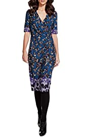 Per Una Feather Print Dress with StayNEW [T62-6644J-S]