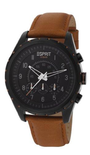 Esprit ES105351003 - Reloj analógico de cuarzo para hombre con correa de piel, color marrón