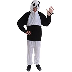 Panda Adult Animal Fancy Dress Halloween Costume One Sz from Wicked Costumes