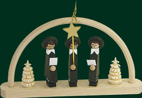 Christbaumschmuck Schwibbogen mit Kurrende Baumbehang Weihnachtsbaum 4,5cm Erzgebirge NEU
