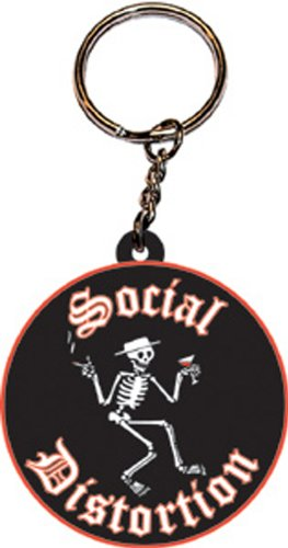 Licenses Products Social Distortion Rubber Keychain - 1