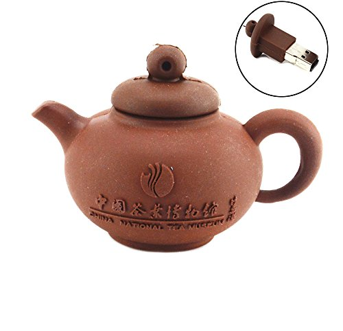 Round Teapot Shape 16Gb Usb Flash Drive (Coffee)