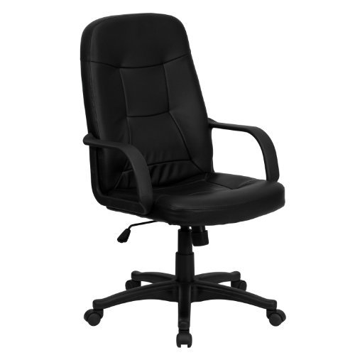Flash Furniture High Back Black Glove Vinyl Executive Office Chair front-10693