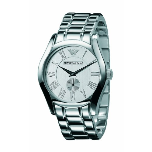 Emporio Armani Men's AR0647 Classic Stainless Steel Silver Dial Quartz Watch