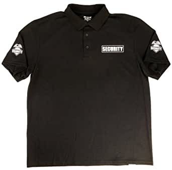 Qraphic tee men 39 s security polo sport shirt for Screen printed polo shirts