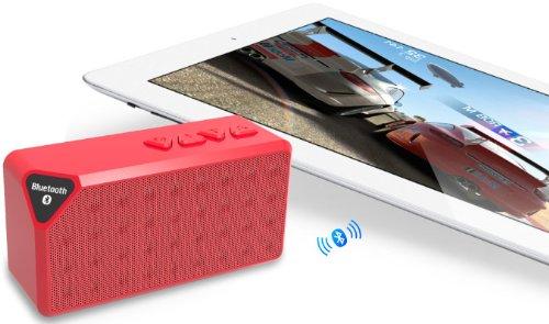 Boomjam Ultra-Portable Mini Wireless Bluetooth Speaker - Red