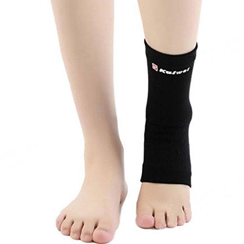 Knöchelschutz Sport fest Neopren Fußbandage Gym Söckchen For Männer und Frauen Schwarz Beige S-L