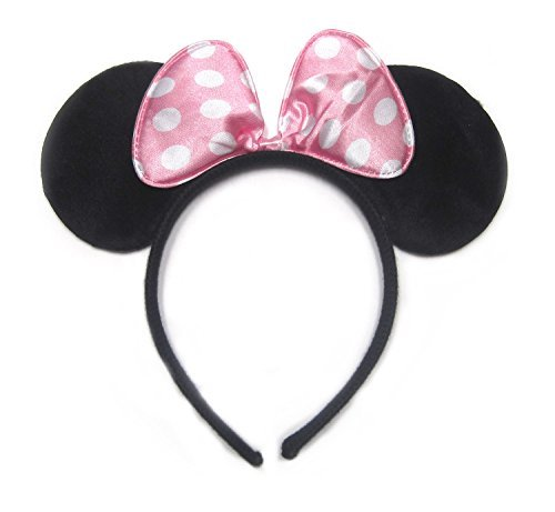 Minnie Mouse Light Pink Polka Dots Ear Headband