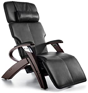 Zero Gravity Chair Inner Balance Recliner with Vibration Massage - Black Electric Power Recline ZG551 with Steel and Wood Base - The Zero Anti Gravity Chair ZG 551
