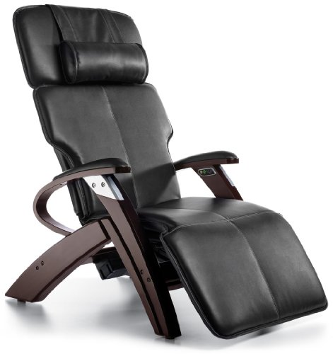 Buy Zero Gravity Chair Inner Balance Recliner with Vibration Massage - Black Electric Power Recline ZG551 with Steel and Wood Base -