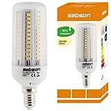E14 108 LED [sebson®] (420lm - Warm-Weiß - 108 x 3528 SMD LED - 360º Abstrahlwinkel - E14 Sockel - 230V AC - 4W - Ø40×120mm)