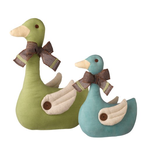 Grasslands Road Spring Meadow Welcoming Duck Doorstopper Assortment, 15-Inch, Set Of 4